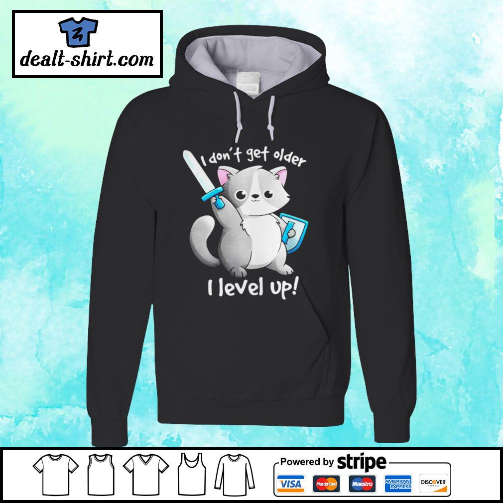Combatant Raccoon I don't get older I level up hoodie