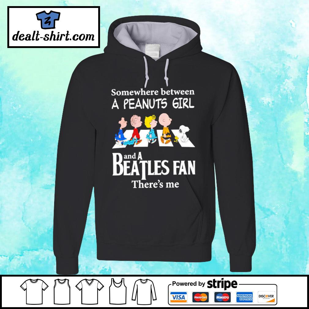 Peanuts Abbey Road somewhere between a Peanuts girl and a Beatles fan there's me hoodie
