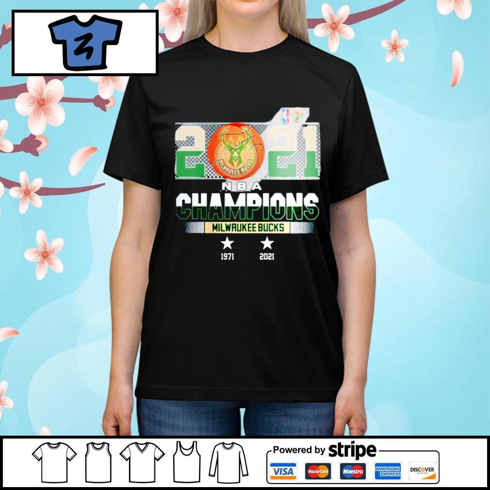 Milwaukee Bucks 2021 NBA Champions 1971-2021 shirt, hoodie ...