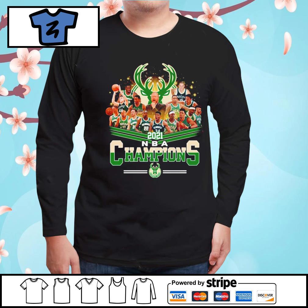 Milwaukee Bucks 2021 NBA Champions shirt, hoodie, sweater ...