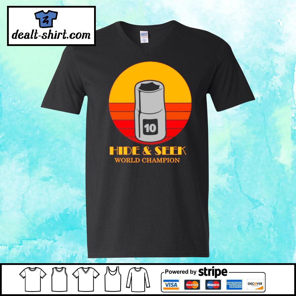 10mm socket hide and seek world champion s v-neck-t-shirt