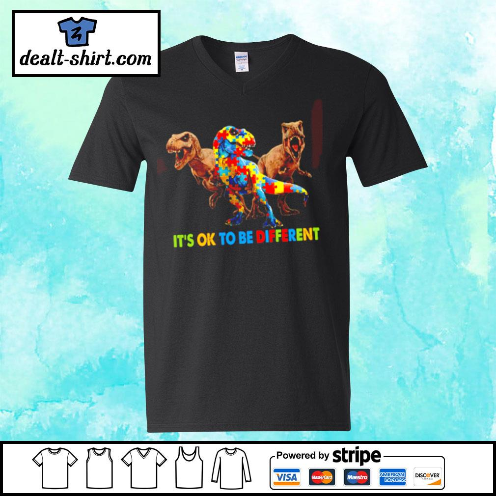 Autism Dinosaurs It's ok to be different shirt