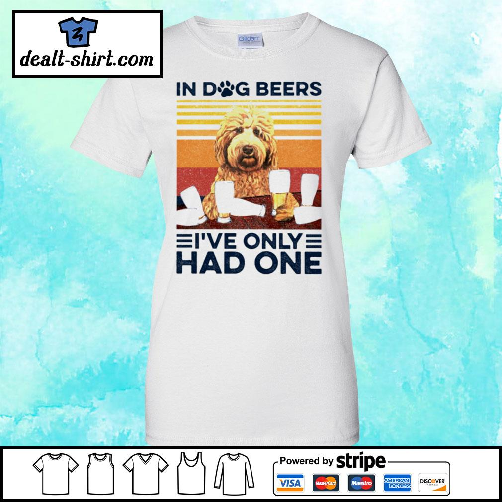 Goldendoodle Only Had One Vintage Shirt ladies-tee