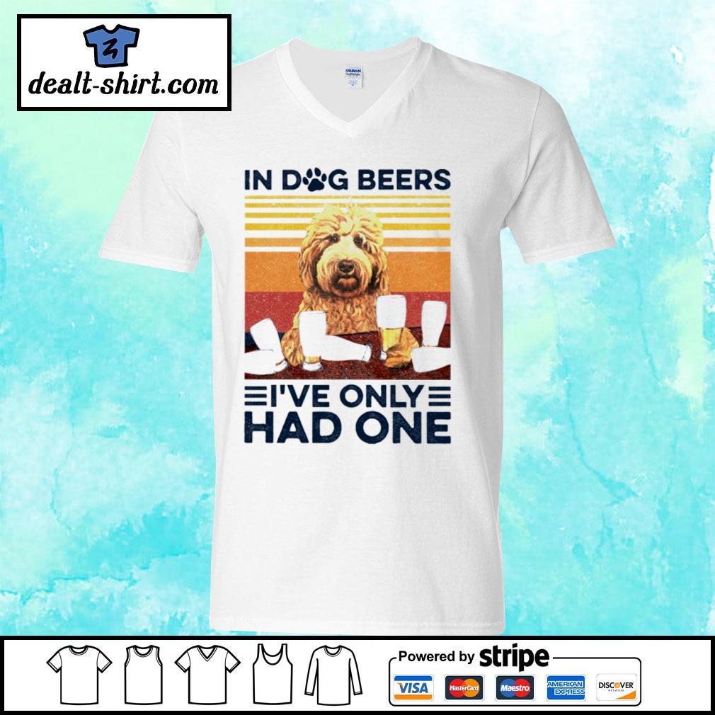 Goldendoodle Only Had One Vintage Shirt v-neck-t-shirt
