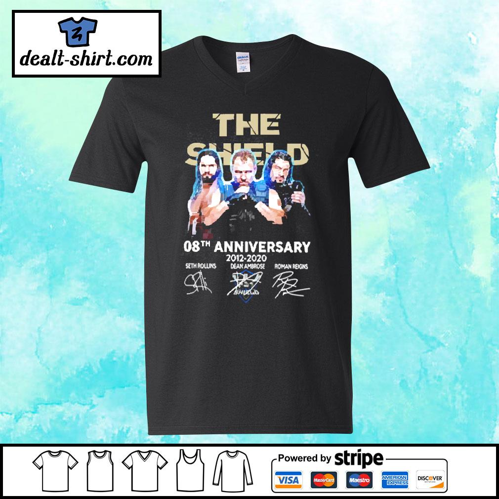 The Shield 08th Anniversary 2012-2020 Signatures Shirt