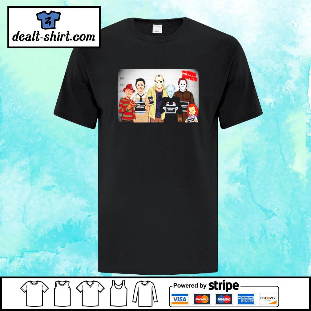 The usual suspects Horror movie characters friends shirt