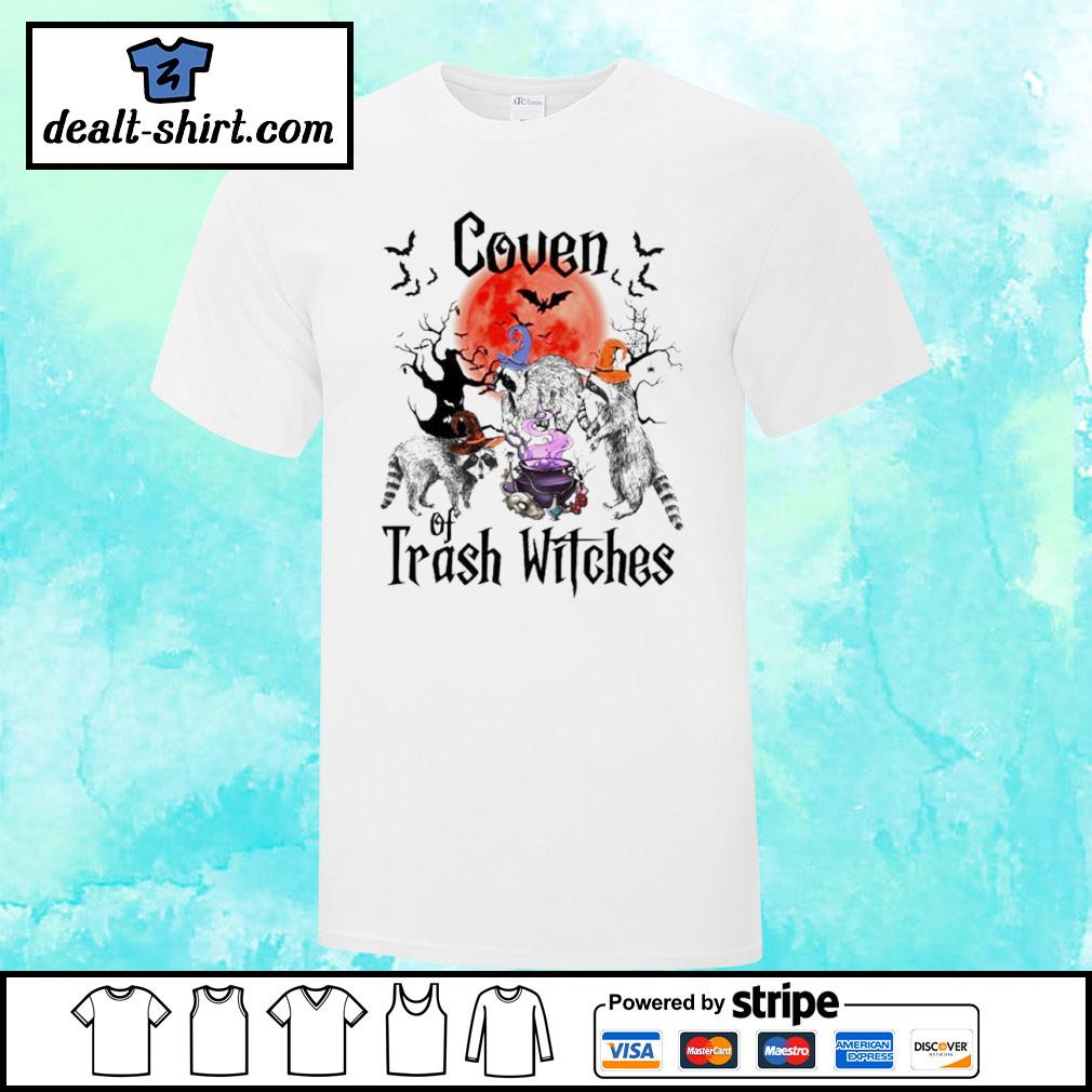 Coven Of Trash Witches Raccoon Halloween shirt