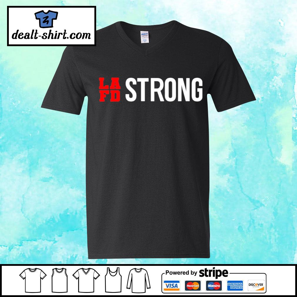 LAFD strong s v-neck-t-shirt