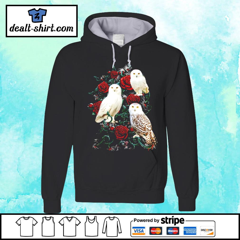 Owl and rose s hoodie