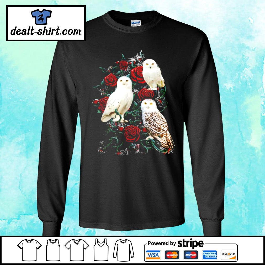 Owl and rose s longsleeve-tee