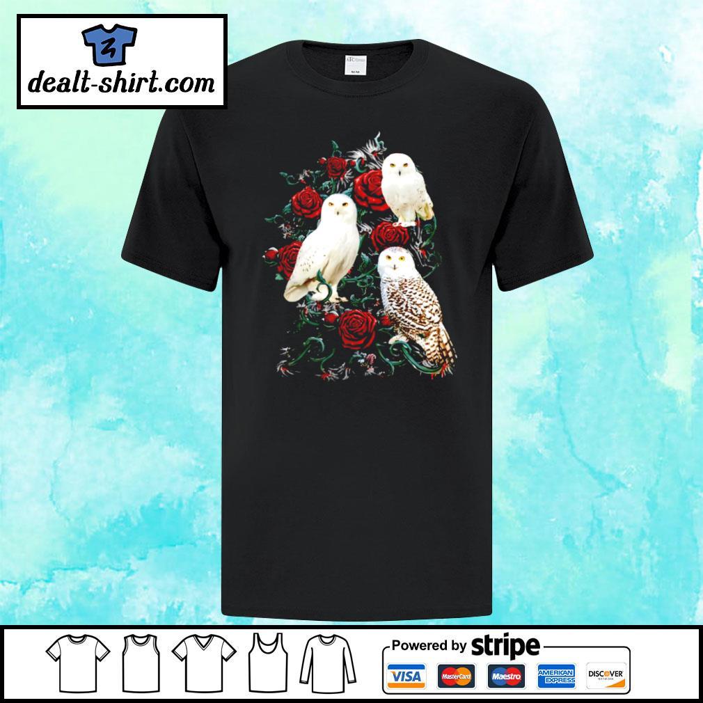 Owl and rose shirt