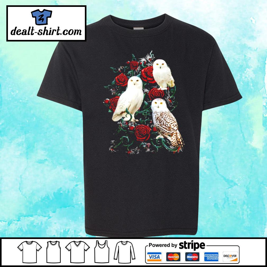 Owl and rose s youth-tee