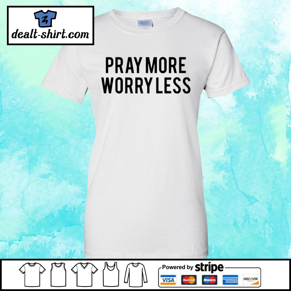 Play more worry less s ladies-tee