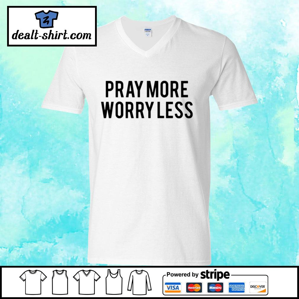 Play more worry less s v-neck-t-shirt