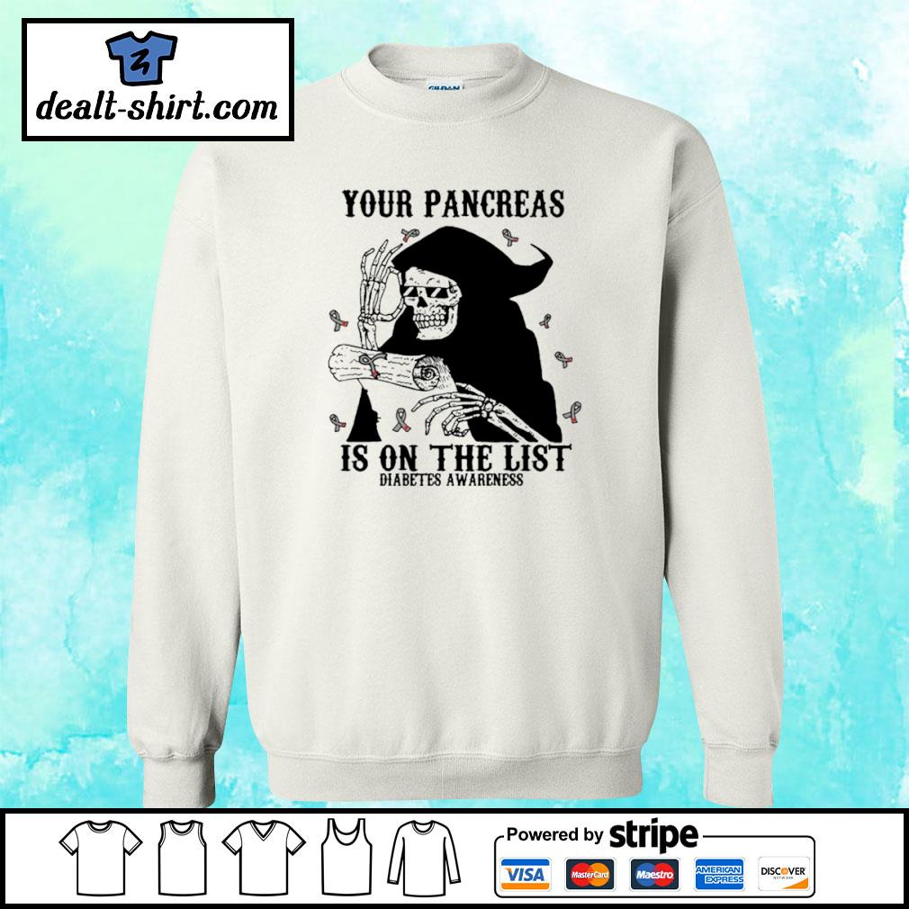 Your pancreas is on the list s sweater