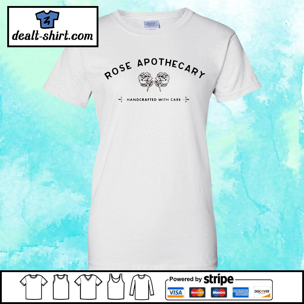 Rose apothecary handcrafted with care s ladies-tee