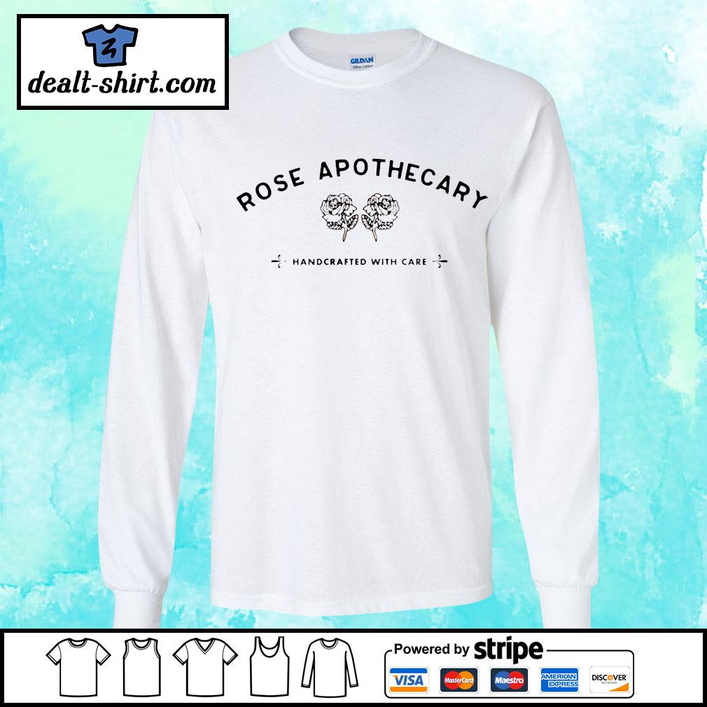 Rose apothecary handcrafted with care s longsleeve-tee