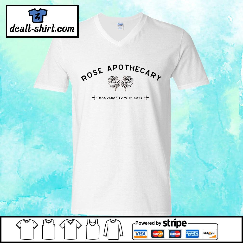 Rose apothecary handcrafted with care s v-neck-t-shirt