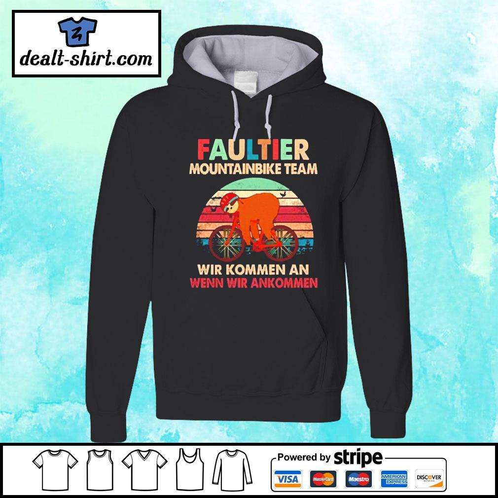 Sloth faultier mountainbike team vintage s hoodie