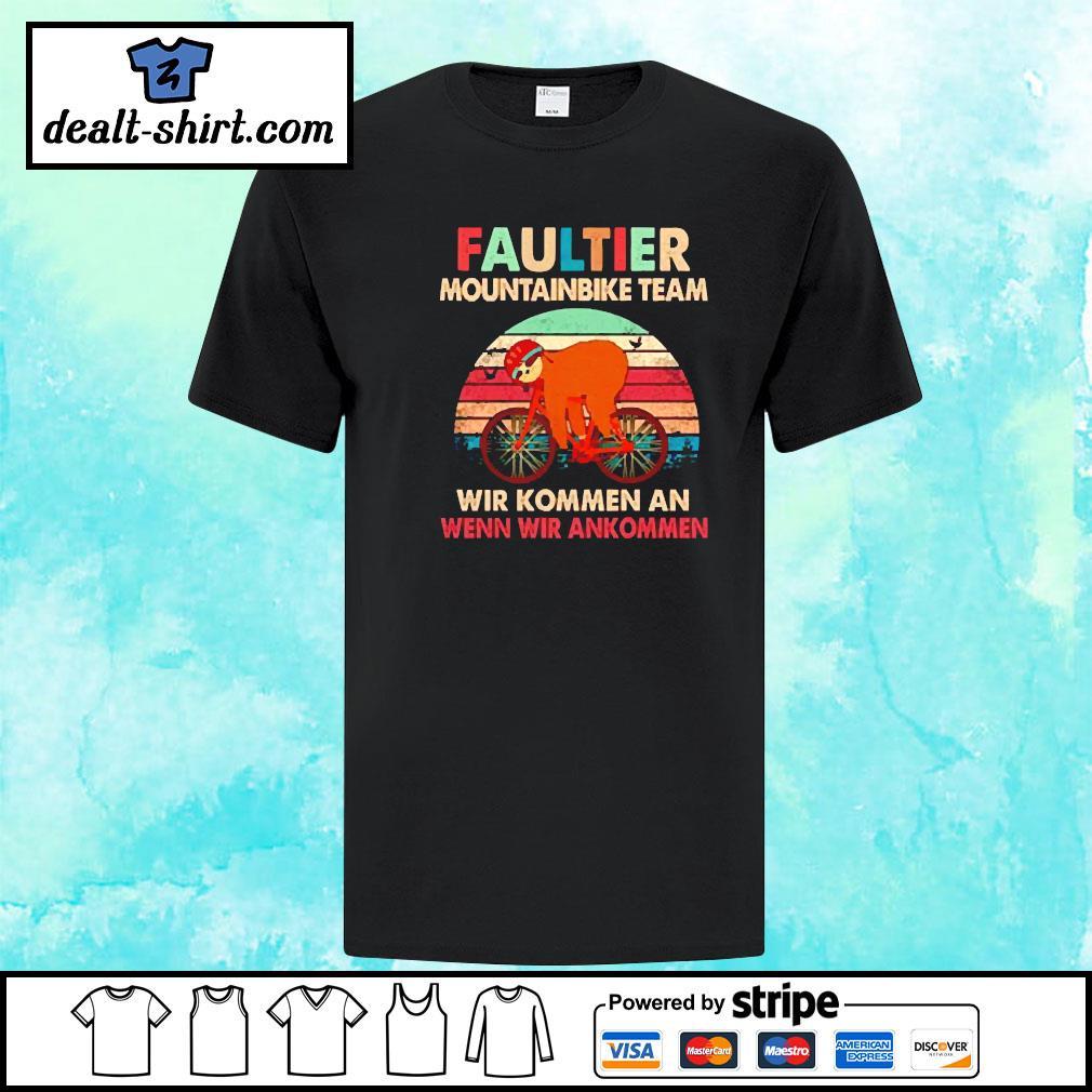 Sloth faultier mountainbike team vintage shirt