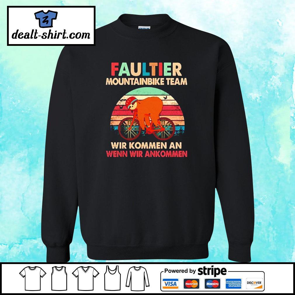 Sloth faultier mountainbike team vintage s sweater
