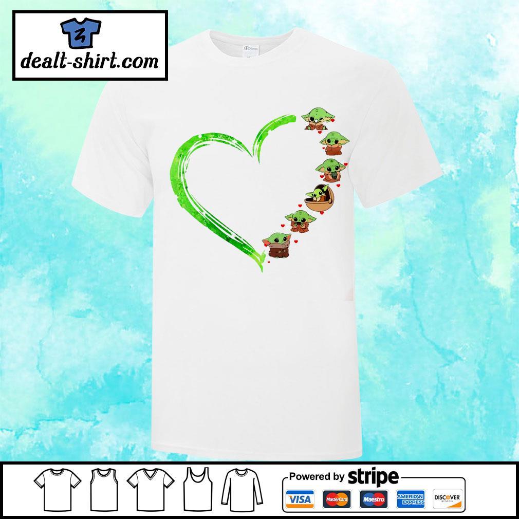 Star Wars Baby Yoda heart shirt