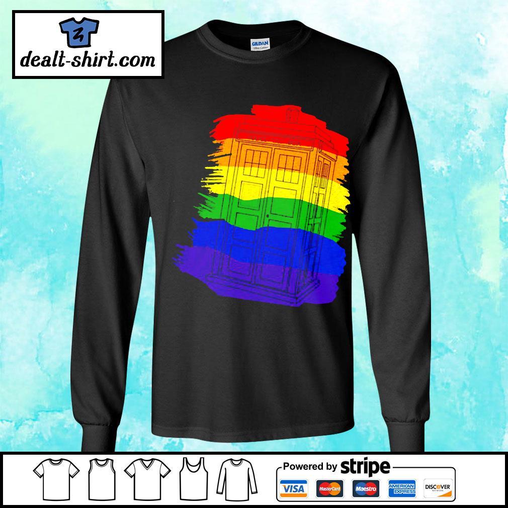 Tardis Gay Pride LGBT s longsleeve-tee