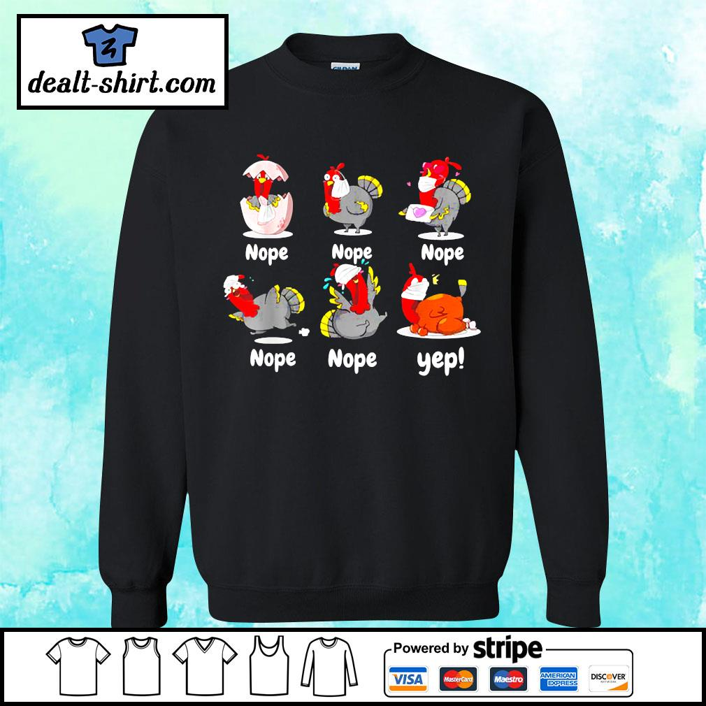 Thanksgiving 2020 Turkey wearing mask wrong funny s sweater