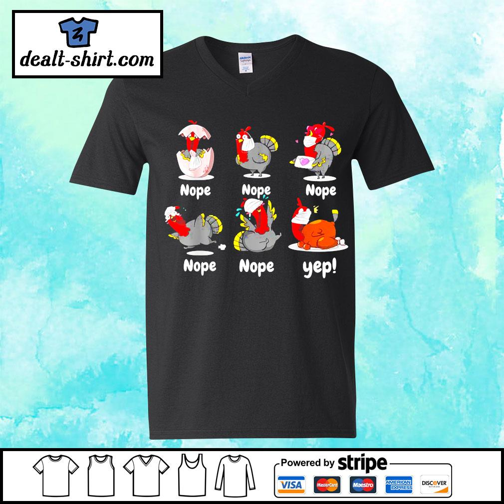 Thanksgiving 2020 Turkey wearing mask wrong funny s v-neck-t-shirt